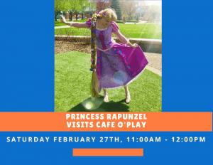 Princess Rapunzel visits Cafe O'Play