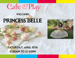 Princess Belle visits Cafe O'Play