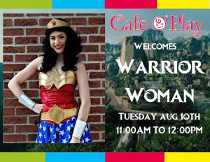 Wonder Woman visits