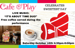 Celebrate Sweetest Day with a Music Performance @ Cafe O'Play