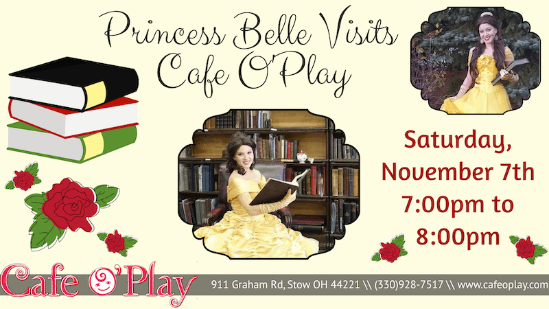 Princess Belle stops by Cafe O'Play